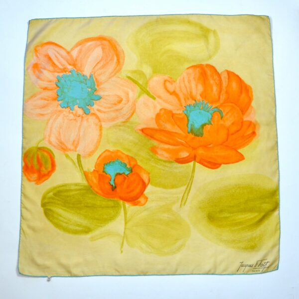 divine style french antiques Jacques Fath silk scarf 1950s citrus 1