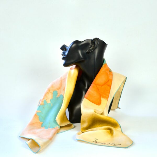 divine style french antiques Jacques Fath silk scarf 1950s citrus