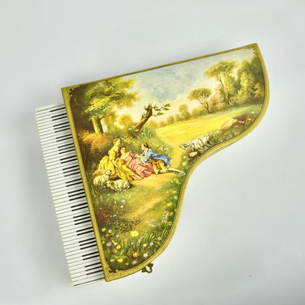 divine style french antiques grand Piano musical box 4
