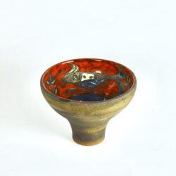 divine style french antiques mid century Italian pottery bowl