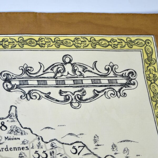 divine style french antiques 1970s silk scarf French department map 3