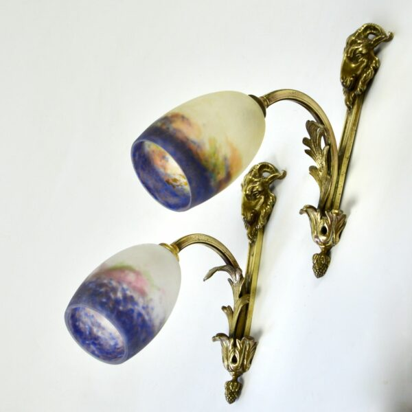 divine style french antiques muller freres wall lights sconces