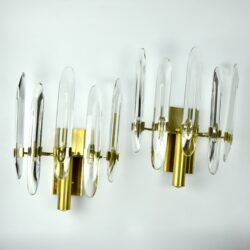 divine style french antiques pair Gaetano Scoliari crystal sconces 1960s 3 (2)