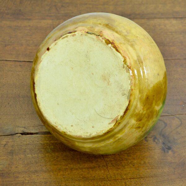 french glazed green terracotta pot cruche gargoulette 4