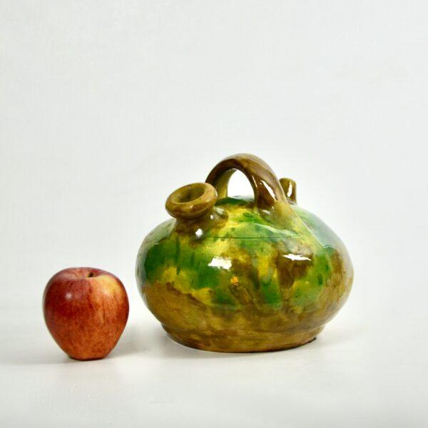 divine style french antiques glazed green terracotta pot cruche gargoulette