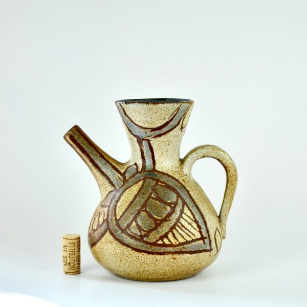 divine style french antiques Accolay zoomorphic studio pottery vase mid century 2