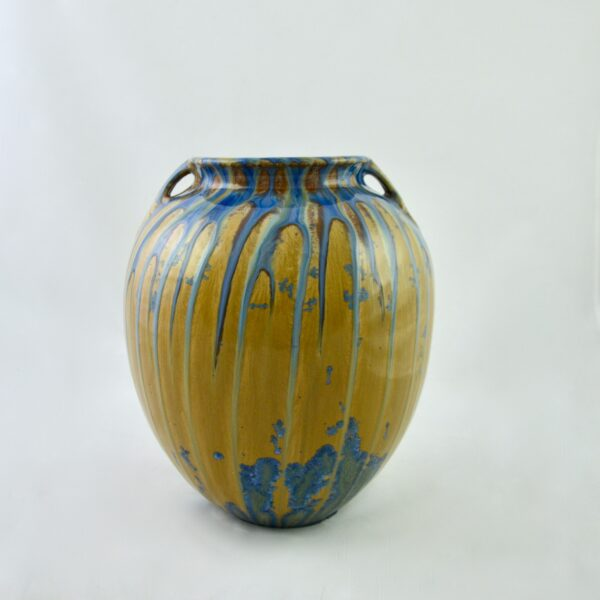 divine style french antiques dalpayrat large glazed stoneware vase c1900 1