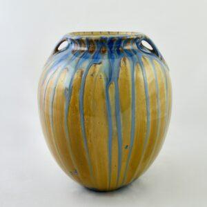 Pierre-Adrien Dalpayrat round vase with drip glaze crystalline glaze