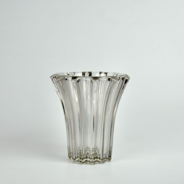 divine style french antiques pierre d'avesn lobed glass vase clear 2