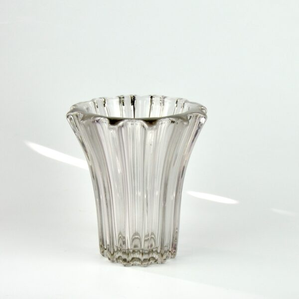 divine style french antiques pierre d'avesn lobed glass vase clear