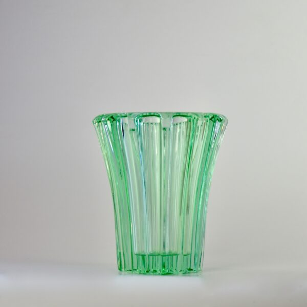 divine style french antiques pierre d'avesn lobed glass vase green 1