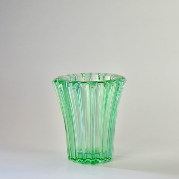 divine style french antiques pierre d'avesn lobed glass vase green