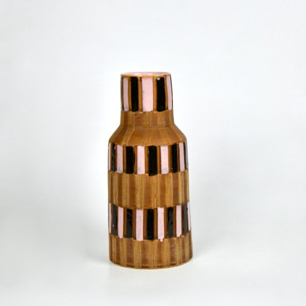 fratelli fanciullacci vase 1950s sgraffito divine style french antiques
