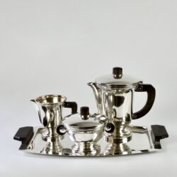 french art deco silver plate coffee service divine style french antiques