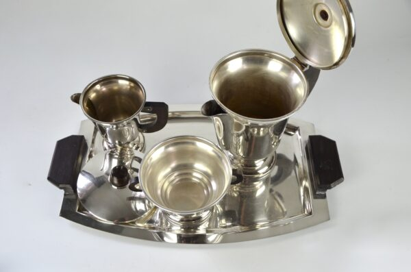 french art deco silver plate coffee service divine style french antiques 2