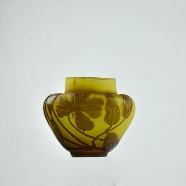 gallé vase cameo glass divine style french antiques