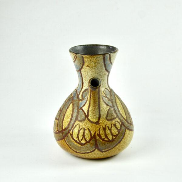 divine style french antiques Accolay zoomorphic studio pottery vase mid century 1