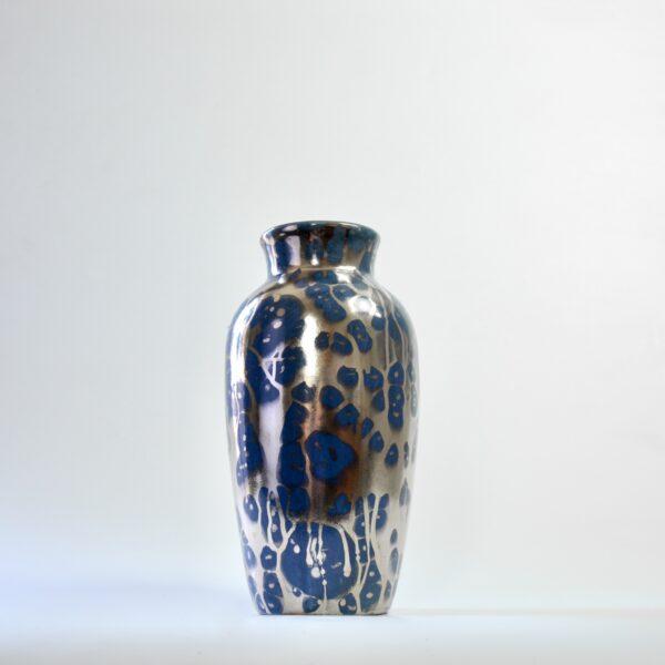 Leon Pointu Art Deco vase silver glaze divine style french antiques 8