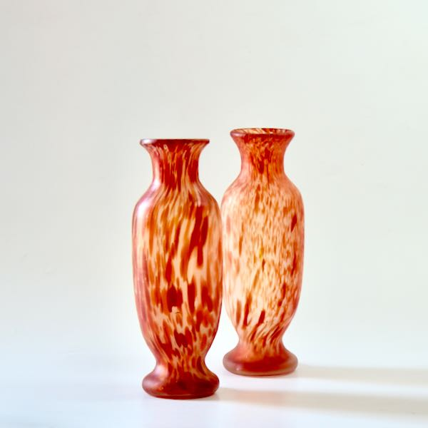 pair of legras vases spatter glass baluster divine style french antiques1