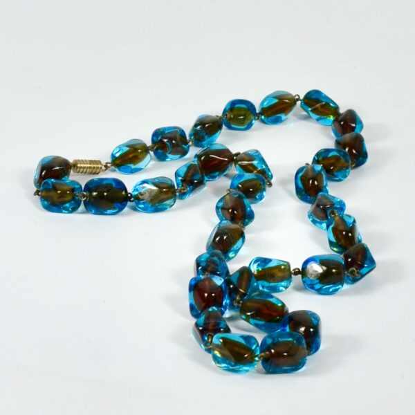 1950s-Murano-sommerso-bead necklace divine style french antiques 2