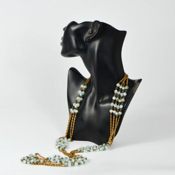 1920s sautoir flapper necklace givre beads 1920s divine style 5