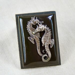 jean painlevé seahorse brooch divine style french antiques