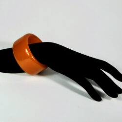 Thick bakelite bangle extra wide shape french art deco 1930s bakelite bracelet