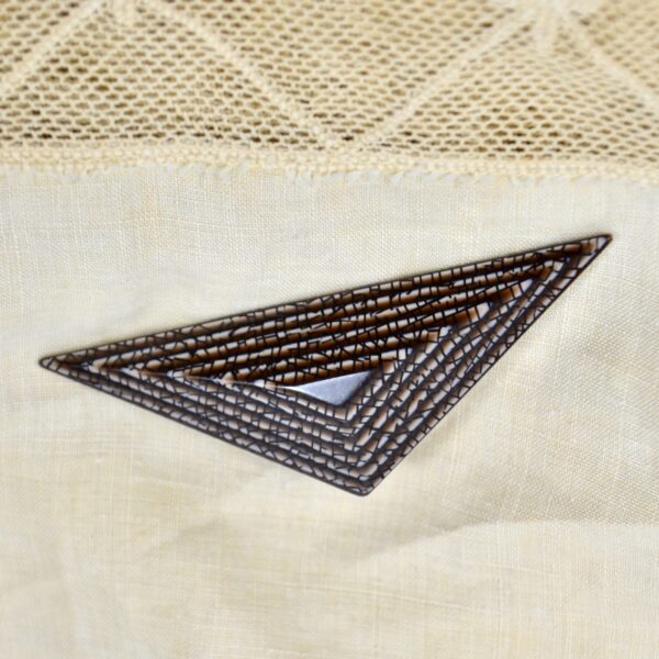 vintage lea stein geometric brooch divine style 1