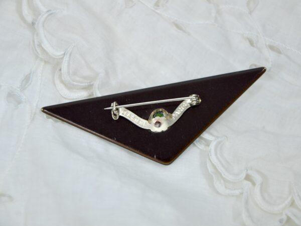 vintage lea stein brooch green metallic divine style 2