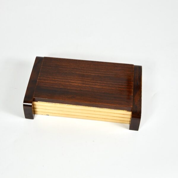 rosewood maple art deco cigarette box divine style french antiques 4