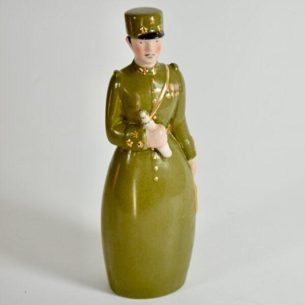 Robj Paris liquor bottle art deco brigadier general french ceramics 4