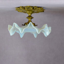 antique gilt bronze opalescent ceiling light divine style French antiques