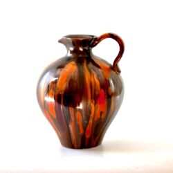 Bouffioulx glazed stoneware jug divine style french antiques