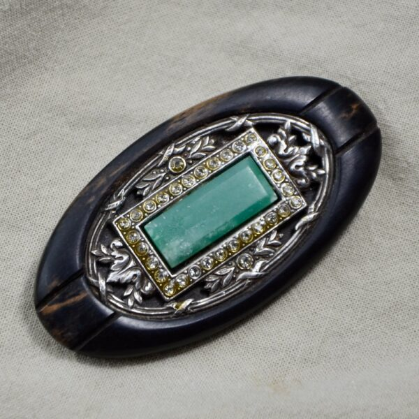 art deco brooch jade silver 1900 divine style french antiques 3