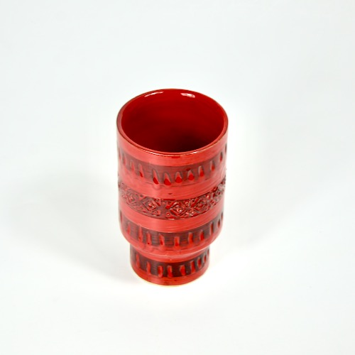 Italian Bitossi modernist red vase divine style french antiques