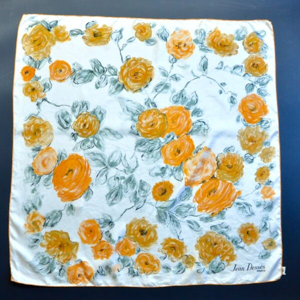 jean desses silk scarf 1950s divine style french antiques 1