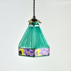 Czech glass art deco pendant light fixture divine style french antiques