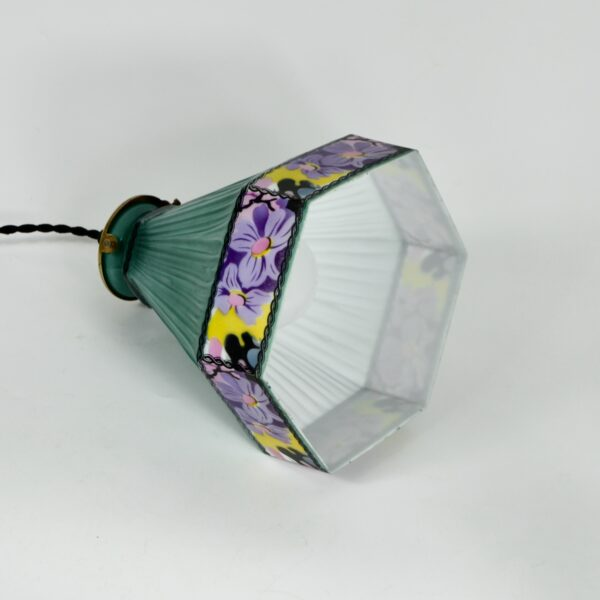 Czech glass art deco pendant light fixture divine style french antiques 2