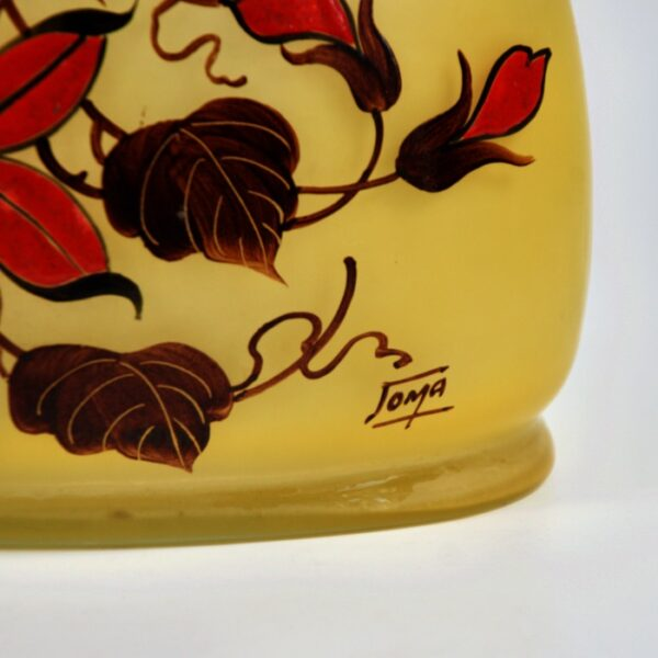 joma art deco poinsettia vase jardiniere divine style french antiques