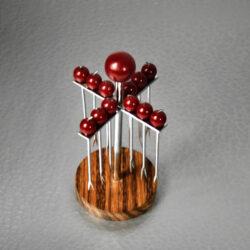Art Deco Bakelite Cocktail Stick Set, Art Deco Hardwood 1930 bar accessory (1)