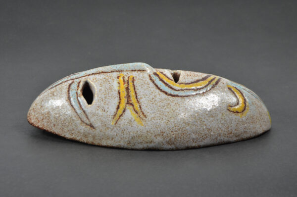 accolay-ceramic-mask-wall-applique-mid-century-french-pottery-1960 b