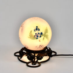 Art Deco enamelled glass night-light, globe lamp