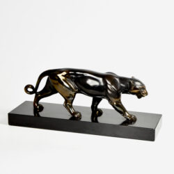 Art Deco panther sculpture Louis Albert Carvin Animal Sculpture French Art Deco 1930 2