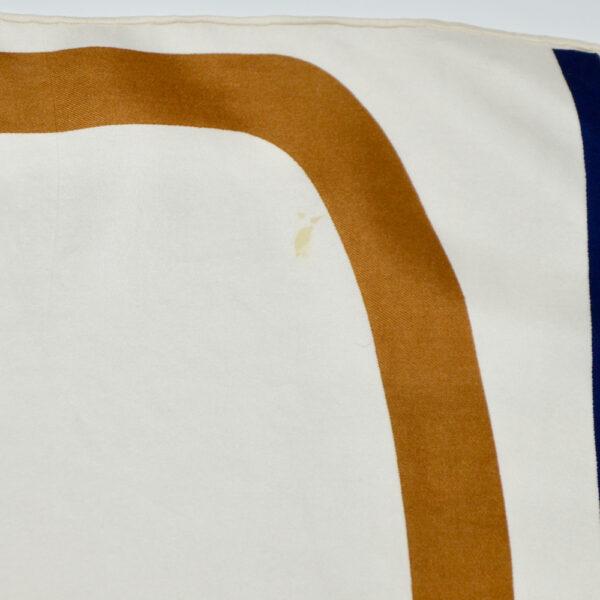 Christian Dior silk scarf geometric white purple vintage french designer silk scarf paris couture 1