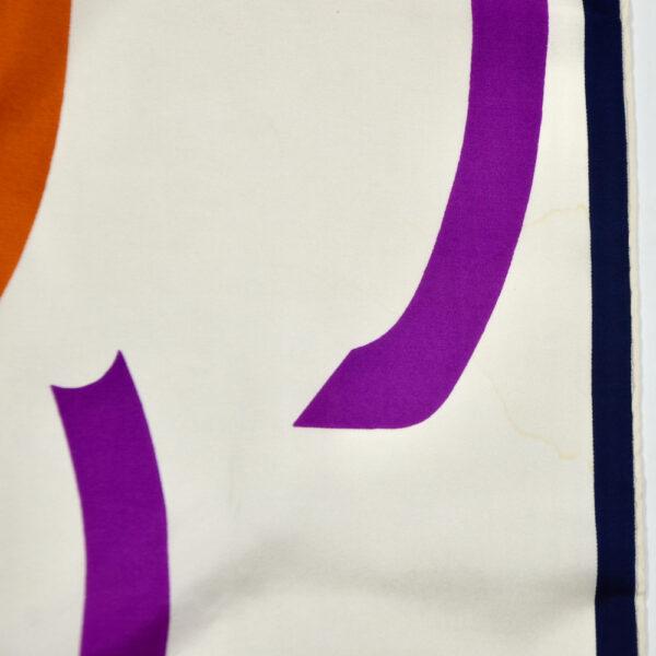 Christian Dior silk scarf geometric white purple vintage french designer silk scarf paris couture 4