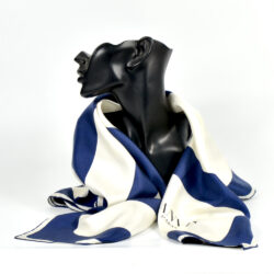 Lanvin silk scarf vintage 1980s french designer silk scarf couture