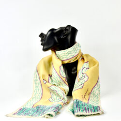 Molyneux silk scarf 1970s vintage french designer scarf 2