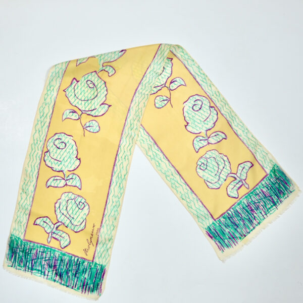 Molyneux silk scarf 1970s vintage french designer scarf