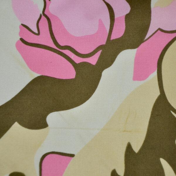 Nina Ricci silk scarf vintage french designer scarf floral pink grey 1