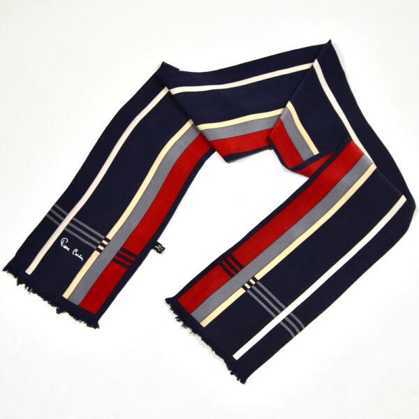 Pierre Cardin long silk scarf vintage french designer scarf 1960s 1